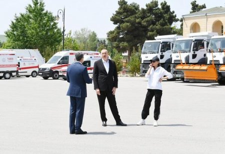 Prezident və xanımı Şamaxıda... - Fotolar