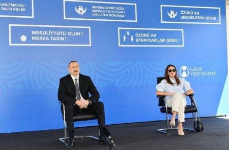 İlham Əliyev və Mehriban Əliyeva Bakıda modul tipli hospitalın açılışında - FOTO