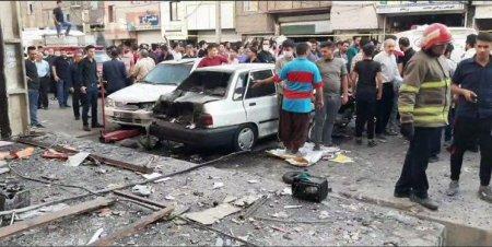 Tehranda güclü partlayış - 1 ölü, 10 yaralı - FOTO