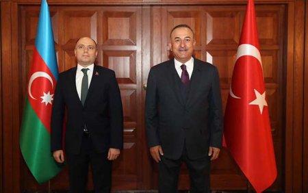 Mövlud Çavuşoğlu Anar Kərimovla görüşdü - Foto
