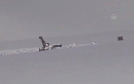 Türkiyədə qəzaya düşən helikopterin dağıntılarından ilk görüntü - Video